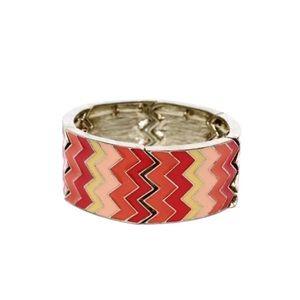 🌈4/$15 shades of Orange chevron bracelet